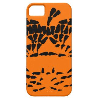 Jack-O-Lantern Icon Black on Orange iPhone 5 Cases