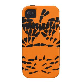 Jack-O-Lantern Icon Black on Orange Vibe iPhone 4 Cases