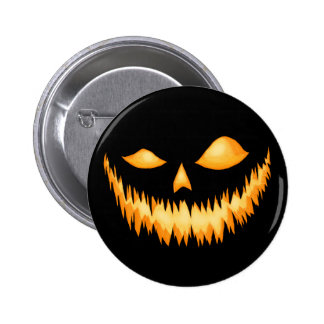 Jack O Lantern In The Dark With An Evil Grin 2 Pinback Button