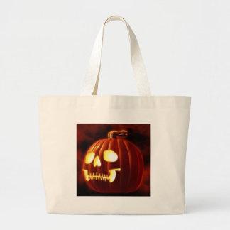 Jack-o-lantern Large Tote Bag