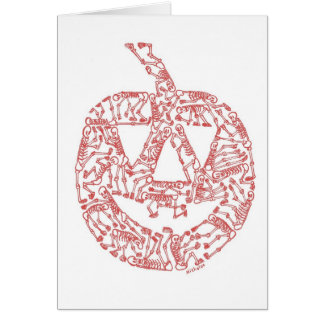 JACK-O-LANTERN made of Skeletons Card