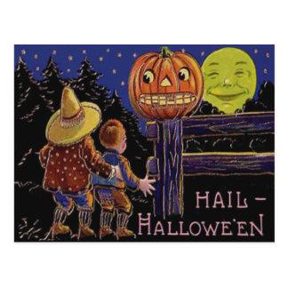 Jack O Lantern Man In The Moon Postcards