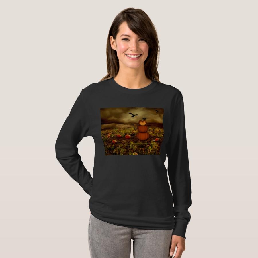 jack-o'-lantern man pumpkin patch T-Shirt - Best Selling Long-Sleeve Street Fashion Shirt Designs