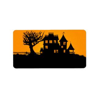 Jack O Lantern Manor Address Label