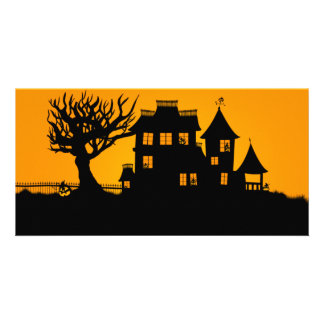 Jack O Lantern Manor Card