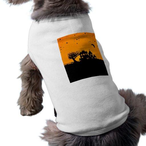 Jack O Lantern Manor Doggie T Shirt