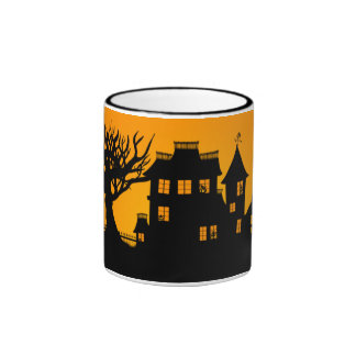 Jack O Lantern Manor Ringer Coffee Mug