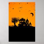 Jack O Lantern Manor Print