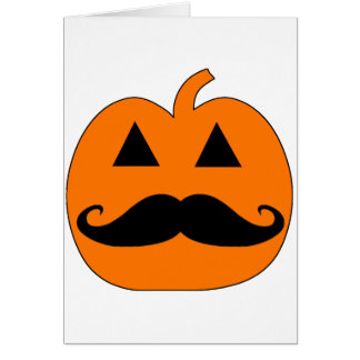 Jack o Lantern mustache Greeting Card