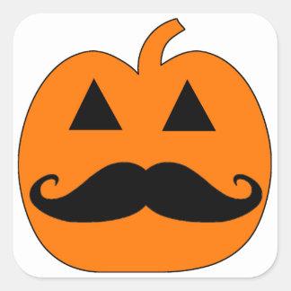 Jack o Lantern mustache Square Sticker