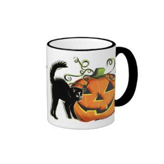 Jack-O-Lantern N Cat Mug