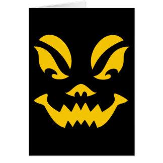 Jack-o-lantern Note Card