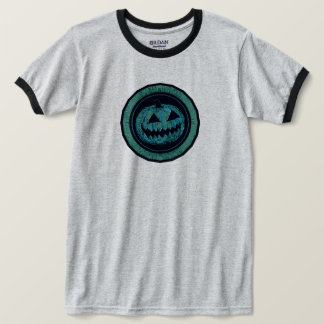 Jack O Lantern Octagon Sea Green Worn Look T-Shirt