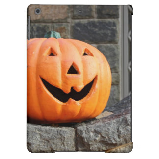 Jack-o-lantern on a stone wall cover for iPad air