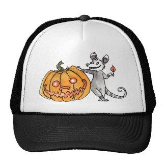 Jack-o-Lantern Opossum Hat
