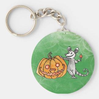 Jack-o-Lantern Opossum Keychain
