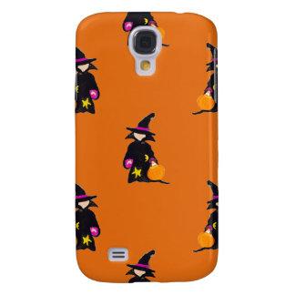 Jack o Lantern Orange Halloween Toddler Witch Samsung Galaxy S4 Cases