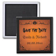 Jack o lantern ornate Halloween Save the Date Magnets