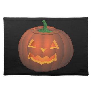Jack-O-Lantern Place Mats Halloween Pumpkin Decor