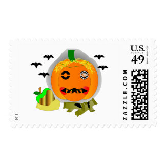 Jack-O-Lantern Postage Stamp