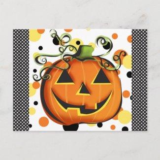 Jack-O-Lantern Postcard postcard