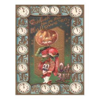 Jack O Lantern Pumpkin Bagpipe Kilt Postcard