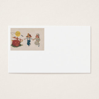 Jack O Lantern Pumpkin Bat Full Moon Children Business Card