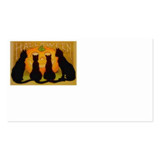 Jack O Lantern Pumpkin Black Cat Business Card