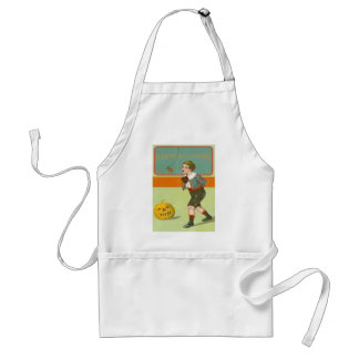 Jack O Lantern Pumpkin Bobbing Apple Adult Apron