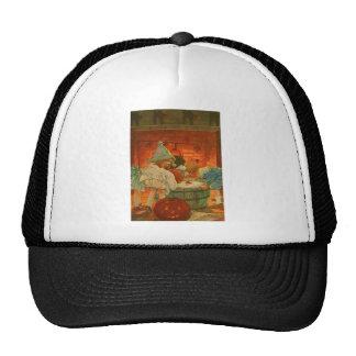 Jack O Lantern Pumpkin Bobbing Apple Black Cat Trucker Hat