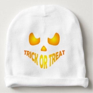 Jack O Lantern Pumpkin Face Trick or treat Baby Beanie