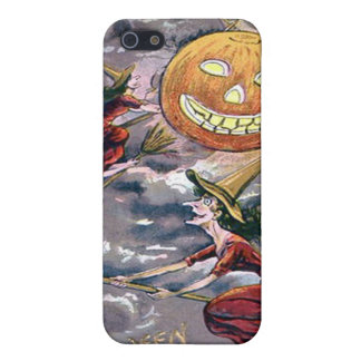 Jack O' Lantern Pumpkin Flying Witch Broom Cover For iPhone SE/5/5s