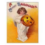 Jack O Lantern Pumpkin Ghost Child Card