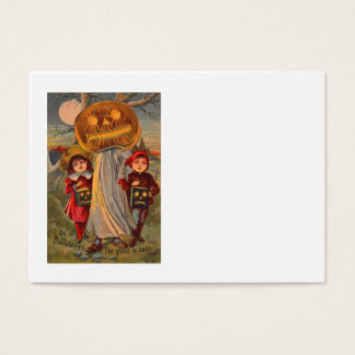 Jack O' Lantern Pumpkin Ghost Children Costume Business Card