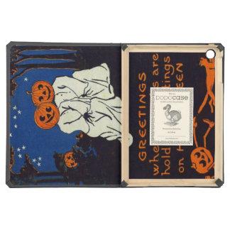 Jack O Lantern Pumpkin Ghost Costume Cat iPad Air Cover