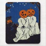 Jack O' Lantern Pumpkin Ghost Costume Mousepad