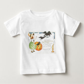 Jack O Lantern Pumpkin Ghost Crow Candle Girl Baby T-Shirt