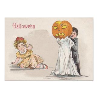 Jack O' Lantern Pumpkin Ghost Trick Or Treat Card