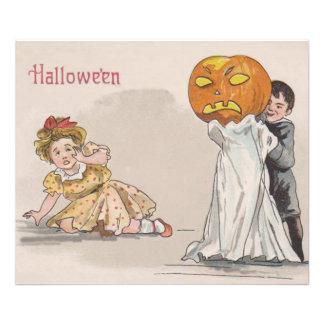 Jack O' Lantern Pumpkin Ghost Trick Or Treat Photo Print