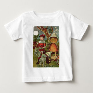 Jack O' Lantern Pumpkin Goat Full Moon Baby T-Shirt