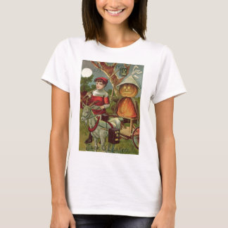 Jack O' Lantern Pumpkin Goat Full Moon T-Shirt