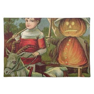 Jack O' Lantern Pumpkin Goat Placemat