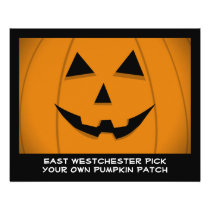Jack-O-Lantern Pumpkin Graphic Customizable Flyer