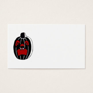 Jack O Lantern Pumpkin Halloween Business Card