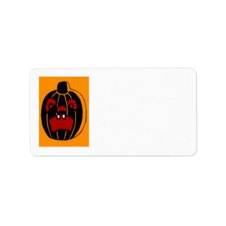 Jack O Lantern Pumpkin Halloween Label