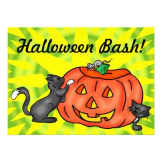 Jack O Lantern Pumpkin Halloween Party Invitation