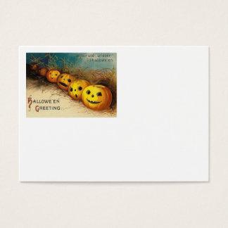 Jack O' Lantern Pumpkin Hay Field Business Card