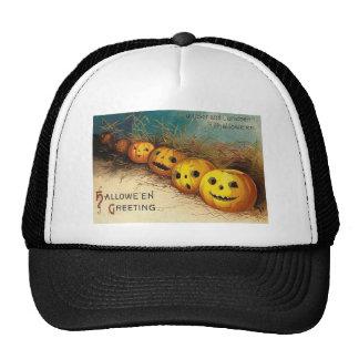 Jack O' Lantern Pumpkin Hay Field Trucker Hat