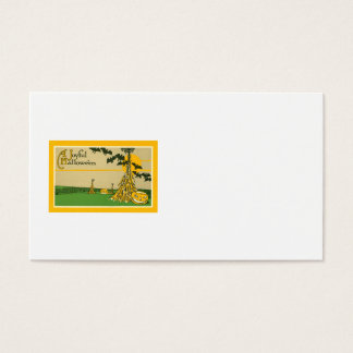 Jack O' Lantern Pumpkin Haystack Bat Business Card