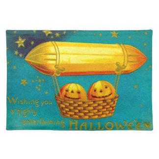 Jack O' Lantern Pumpkin Hot Air Balloon Placemat